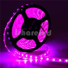 5M 24V 12V flexible light SMD 5050 Pink color strip light White FPCB 60Led/M led strip IP65(China (Mainland))