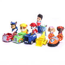 12 PCS Kids Toys Ryder Dogs Action Figures Patrulla Canina Toy Puppy Patrolling For Children Boy Little Gift Patrulla De La Pata(China (Mainland))