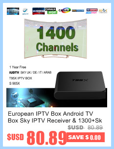 image for European IPTV Box Android TV Box Sky IPTV Receiver & 1400+Sky French T