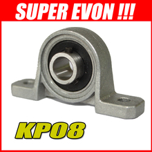 6pcs KP08 8mm high speed pillow block bearings end support bearing G015#6A(China (Mainland))