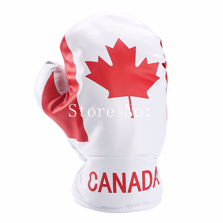 1pc golf CANADA Boxing gloves headcovers for golf Drivers golf Red maple leaves