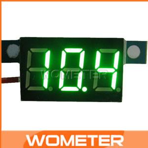 20 pcs/lots DC 3.3-30V Digital Power Voltage Monitor  LED Green Digital Voltmeter Electric Motorcycle Panel Meter#200737<br><br>Aliexpress