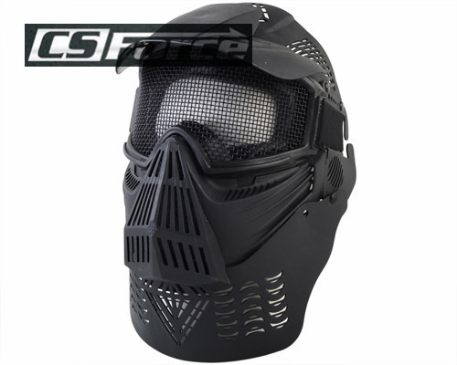 Airsoft Protective Face Guard Mask with Mesh Goggles Tactical Outdoor Military Masks for Paintbal lWargame Hunting Accessories(China (Mainland))