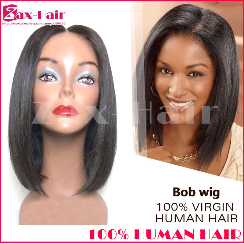 Short wig human hair bob wig brazilian virgin human hair wig for black women bob wig grade 6A stocked natural hairline baby hair<br><br>Aliexpress