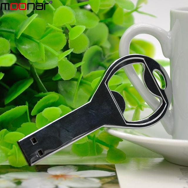 Hot sale Beer bottle opener key chain usb flash Drive Memory Stick Drives 16GB usb /pen / car/flash(China (Mainland))