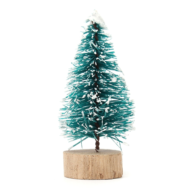 Best Promotion 65mm Christmas Decoration Holiday Mini Christmas Tree Blue-Green Ornament Gifts(China (Mainland))