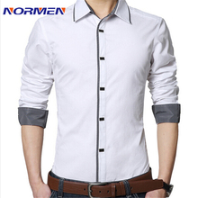 2015 nouvelle marque hommes coton Casual chemise à manches longues mince solide robe hommes chemises camisa masculina sociale chemise homme(China (Mainland))