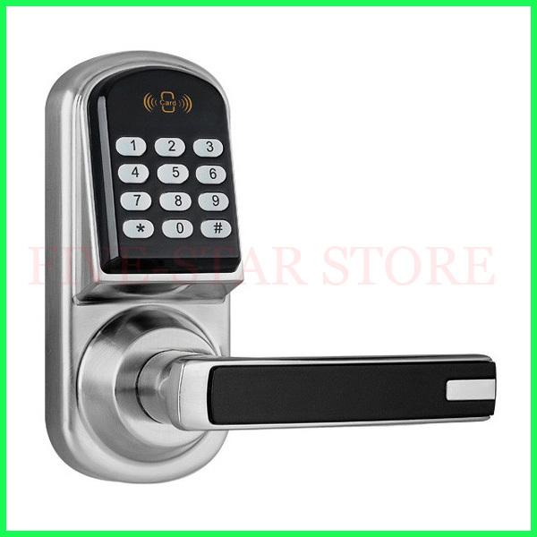 Stainless Steel Digital Electronic M1 card Password code Door Lock,suitable for wooden door