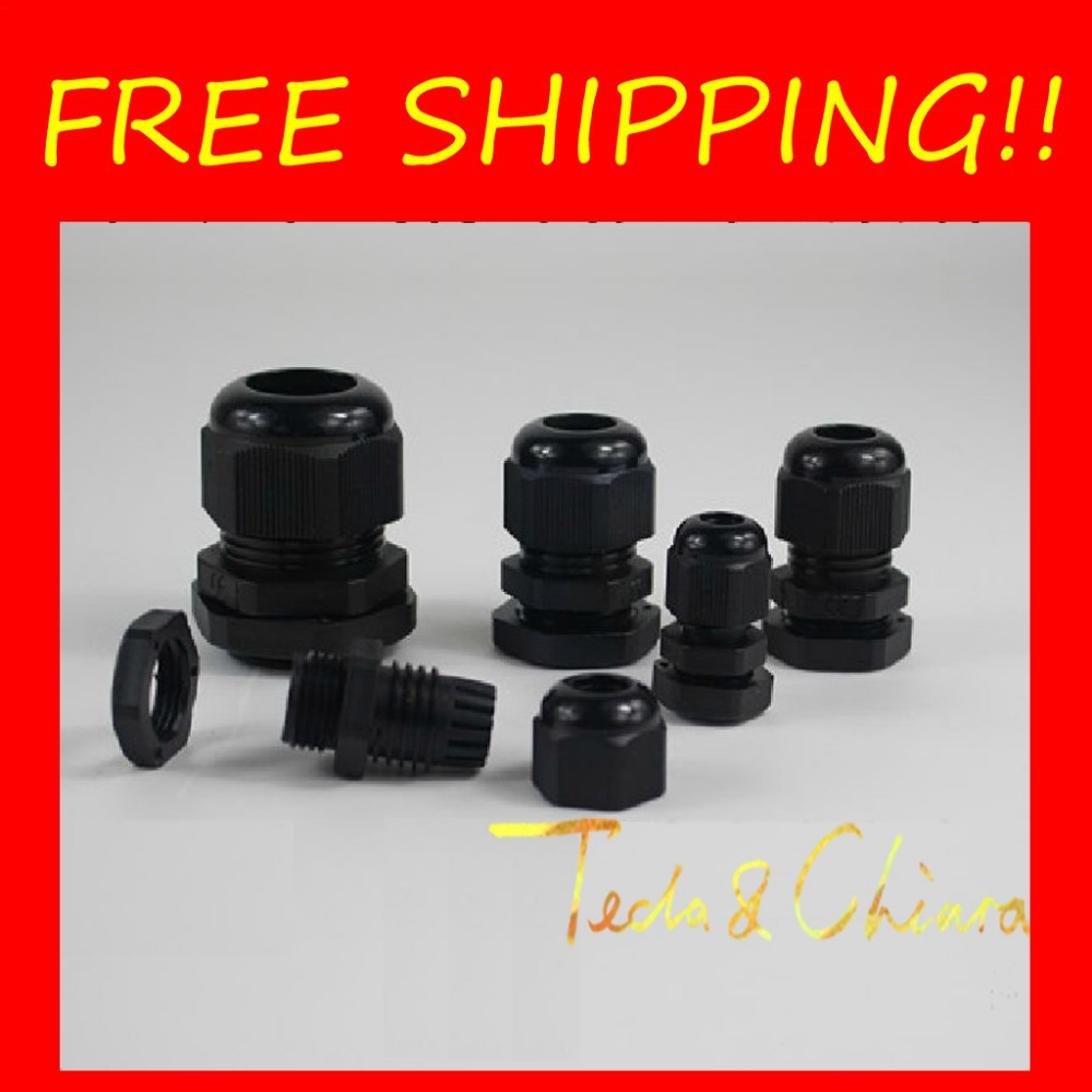 10Pcs PG36 PG36-B Black Waterproof Connector Cable Gland Dia. 22-32mm Free shipping *<br><br>Aliexpress