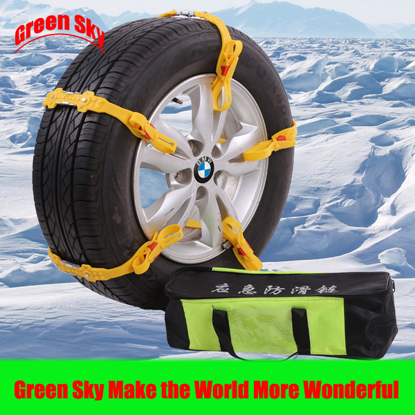 Cheapest Snow/Mud/Ice/Desert Sand/Climbing Road New Arrival car tire chain snow(China (Mainland))