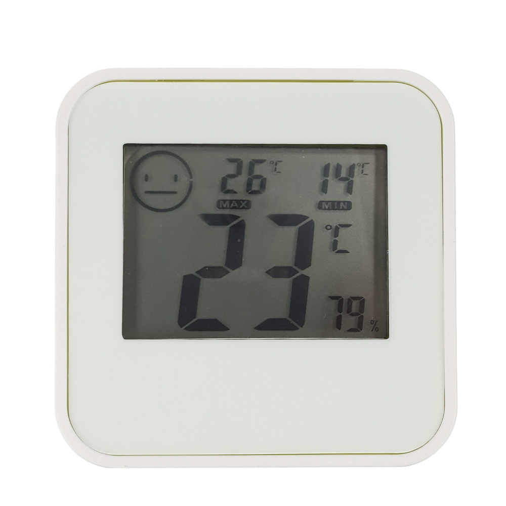 Digital LCD Thermometer Hygrometer Humidity Temperature Meter Indoor Centigrade/Fahrenheit with Comfort Level Icon(China (Mainland))