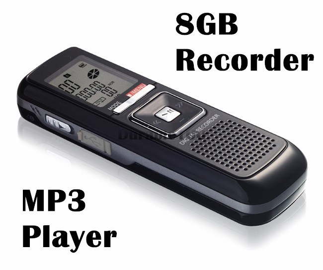 Digital sound recorder PRO 8GB 650Hr USB Digital Audio Voice Telephone Recorder Dictaphone MP3 Player Free Shpping(China (Mainland))