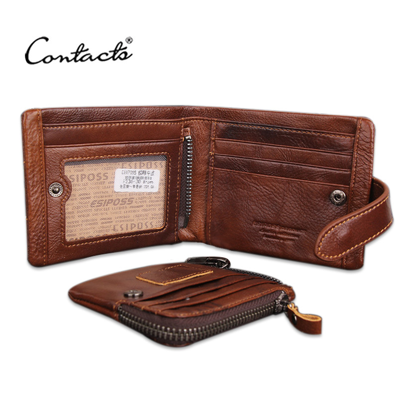 Hot! Classical European and American Style Men Wallets Genuine Leather Wallet Fashion Zipper Brand Purse Card Holder Wallet Man(China (Mainland))