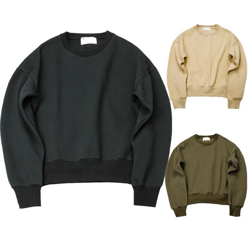 2016 new Sweatshirts simple solid men's Hoodies oversize drooping shoulders men's tops KANYE WEST FOG YEEZY SEASON(China (Mainland))