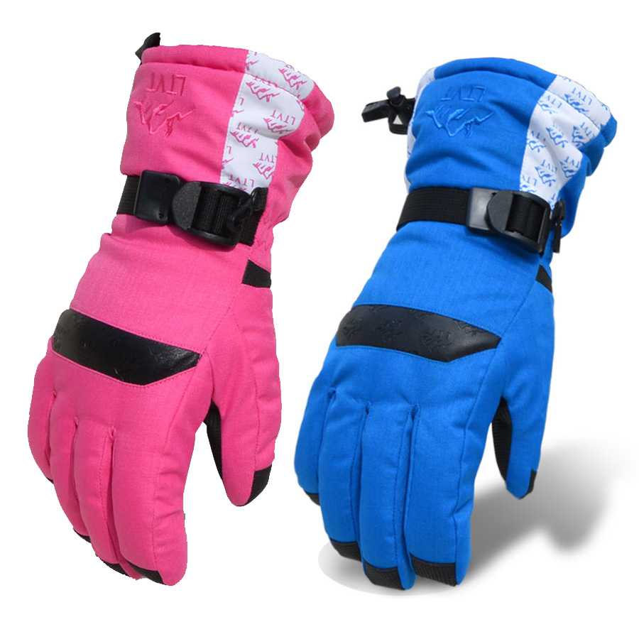Womens leather ski gloves - Ski Gloves Women Winter Warm Gloves Thickened Cotton Snowboard Gloves Women Skate Bicycle Riding Gloves