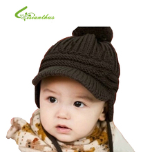 New Autumn Children's Caps Fashion Warm Knitted Wool Baby Boys Beanie Children's Winter Hats Hot Selling Girls Hat Free Shipping(China (Mainland))