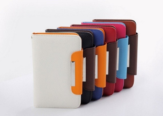 Colorful Leather Cover Case For Vowney V5 5.0 inch Android Cell Phone ,free shipping