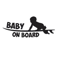 19.1cm*7.6cm Car Styling Warning Logo Baby Board Cute Vinyl Tail Stickers C5-0710 - YJZT Store store