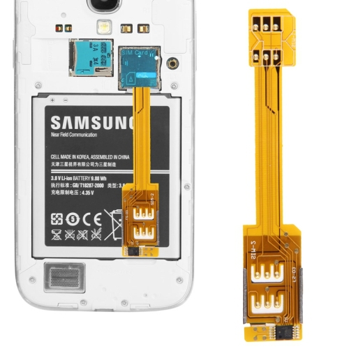 Dual SIM Card Adapter for Samsung Galaxy S5 G900 S4 i9500 S3 Note 3 Note 2 N7100 Grand 2 G7106(China (Mainland))