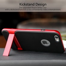 ROCK Royce Series Phone Case For iPhone 6 6s Innovative Kickstand phone shell Phone Bag Back Covers For 6plus 6splus(China (Mainland))