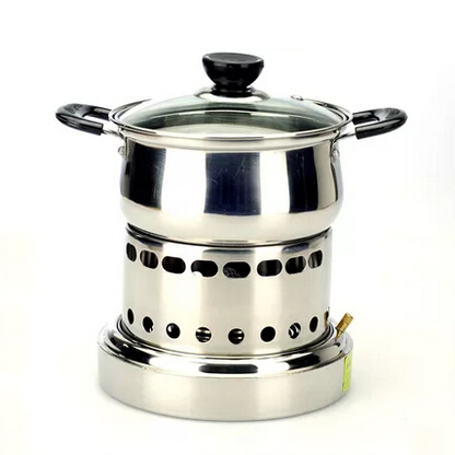 Chinese style stainless steel hot pot liquid alcohol pot ...
