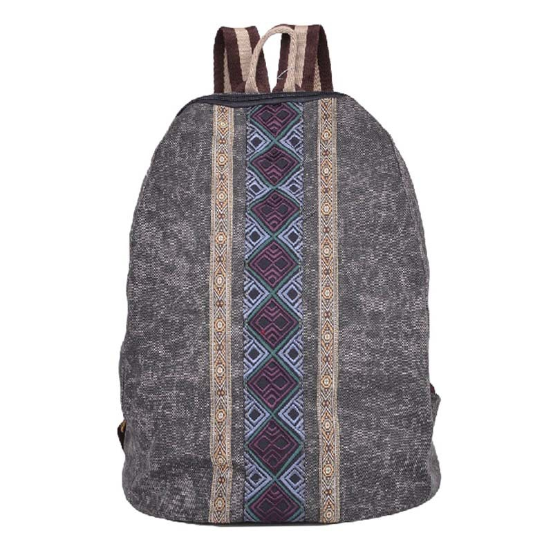 New Retro Folk Style Backpacks Embroidered Canvas Leisure Bag Unisex Daily Backpack School Bags For Teenagers(China (Mainland))