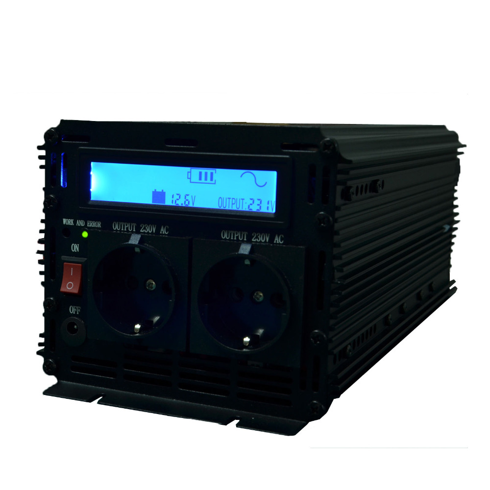 lcd inverter pure sine wave inverter 12V/ 24V to 220v 230v 2500w (peak 5000w), off gird inverter with LCD display(China (Mainland))