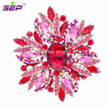 2016 Direct Selling Special Offer Trendy Crystal Large Crystals Brooches Flower Broach For Women Jewelry Accessories
