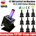 TIPTOP Wholesales Price 10 unit Single Nozzle DMX Stage Co2 Machine LCD Display Digital Screen Address