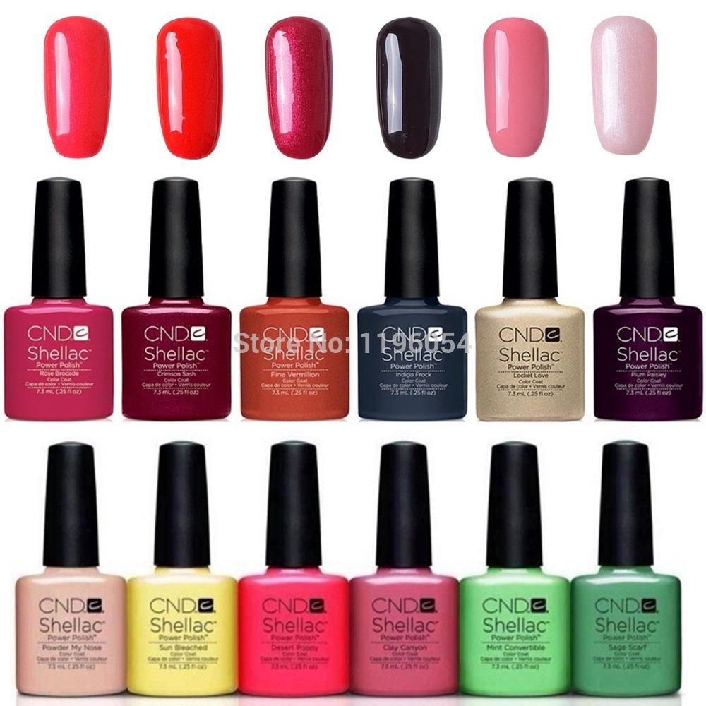 7pcs lot cnd shellac gel polish long lasting soak off gel nail polish led uv hot nail gel. Black Bedroom Furniture Sets. Home Design Ideas