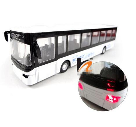 Conditioned Buses Car Metal Model Open Door Pull Back Acousto optic Toys Car, Classic Alloy Antique Car Model,Free Shipping(China (Mainland))