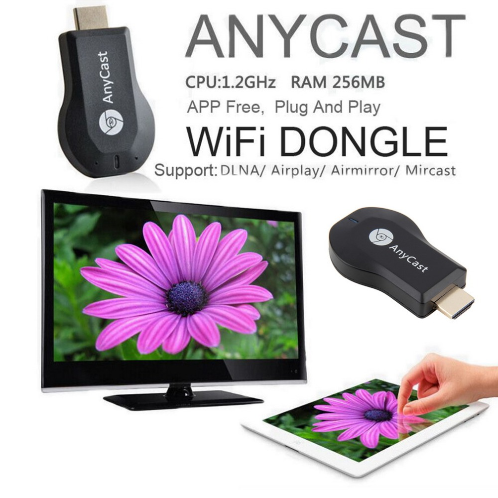 AnyCast M2 Airplay Wireless Wifi Display TV Dongle Receiver DLNA Easy Sharing Mini TV Stick HD 1080P for Android IOS WINDOWS NEW<br><br>Aliexpress