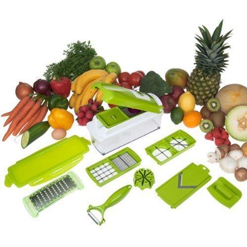 High Discount 12 Pcs TV Nicer Dicer Plus Vegetable Fruit Multi Peeler Cutter Chopper Slicer Kitchen Cooking Tools For Salad(China (Mainland))