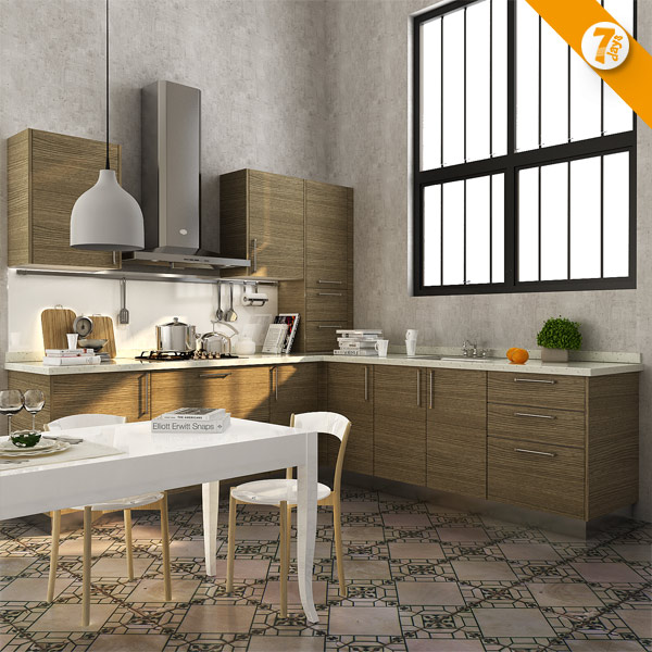 Kitchen cabinet 7 Days Delivery Modular Cabinets Melamine Wooden Kitchen Closet OP14-K005(China (Mainland))
