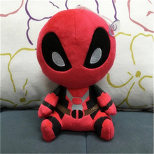 2016 New Hot 20cm Cute X-men Plush Doll Toy Deadpool Q Anime Figure Collectible Toys Limited Collection FreeShipping