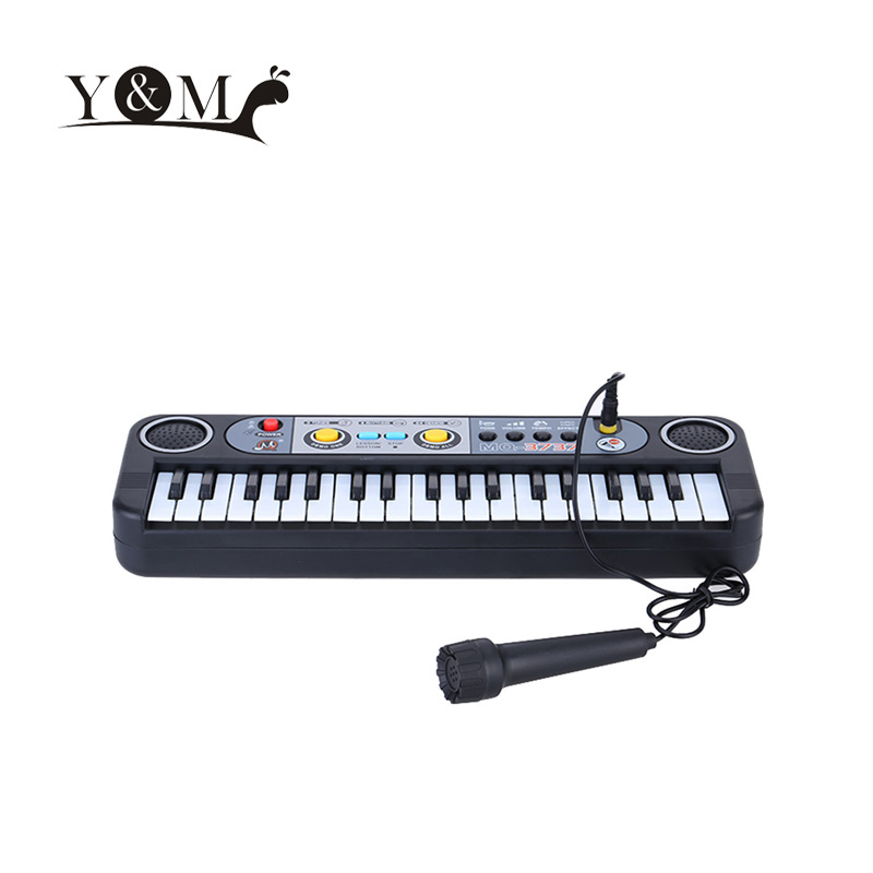37 Keys Electone Multifunctional Mini Electronic Keyboard Musical Toys with Microphone Educational Toys for Children Beginners(China (Mainland))