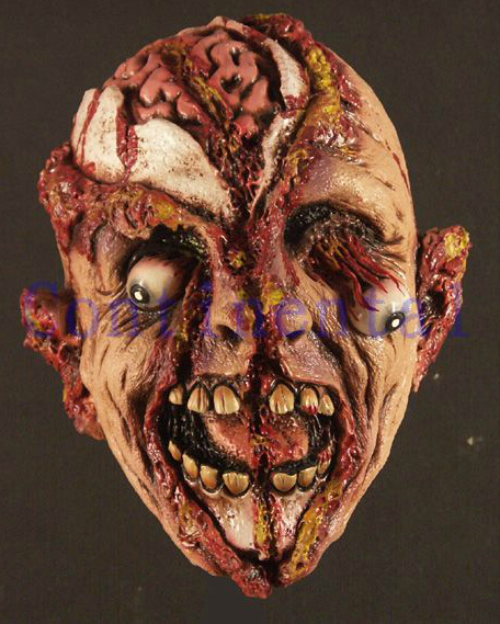 Halloween Bloody Ghost Rubber Latex Mask Party Masks Terror Horror Realistic - Fashion Supplies store