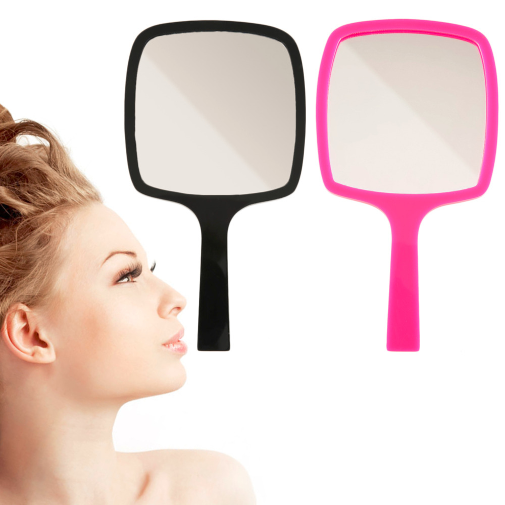 New Premium Mini Mirror Cosmetic Makeup Mirror Gift Acrylic With Handle Portable mirror Pocket compact hot!(China (Mainland))