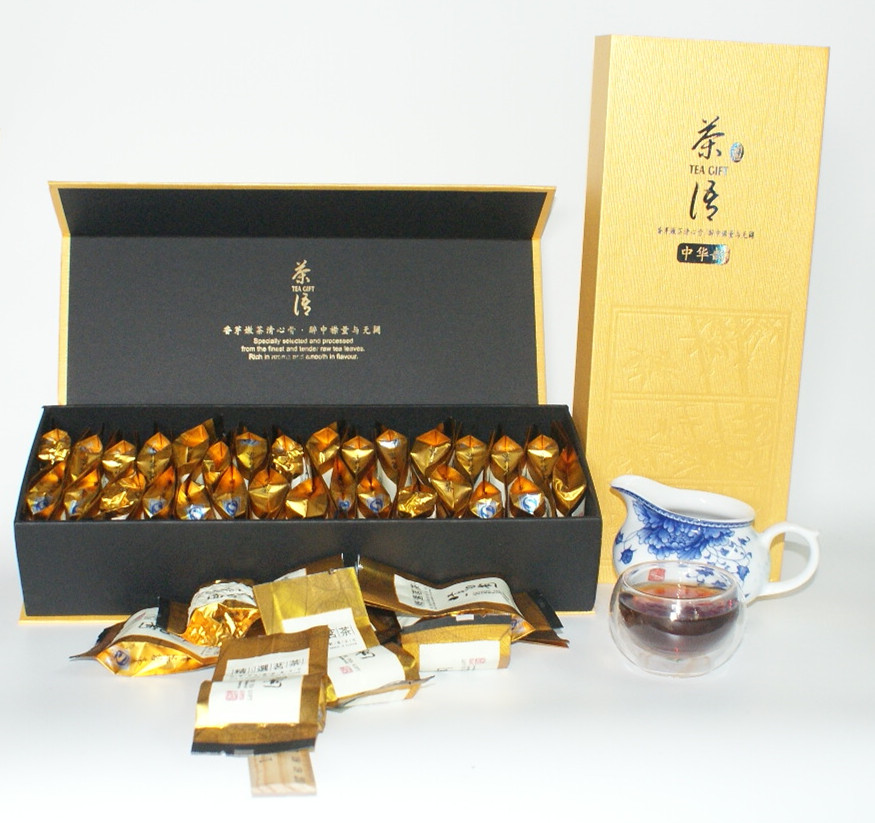 Top level gold shu puer tea 250g 2003 Production glutinous rice aroma pu er 30pcs Chinese