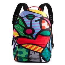 2016 Hot Sale College Style Graffiti Backpack Satin Backpacks Travel Hiking Bags Vogue Rucksack Sport Backpack(China (Mainland))