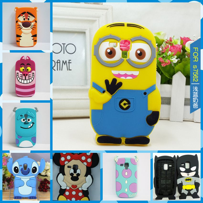 Гаджет  Cute Minions Back Cover Case For Samsung GALAXY Trend Duos S7562 7562 \ Galaxy S Duos 2 S7582 \ Trend Plus S7580 Silicone Cases None Телефоны и Телекоммуникации