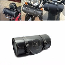 Motorcycle Saddlebags PU Leather Roll Tool Bag Luggage for Motorbike Sissy Bar Handlebar Fork Bag