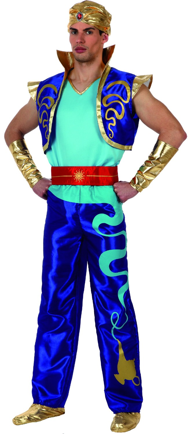 Wholesale - 2016 New Fashion Style Carnival Costume Cosplay Party Clothing for Man knitted Aladdin costumes superhero Blue Color(China (Mainland))