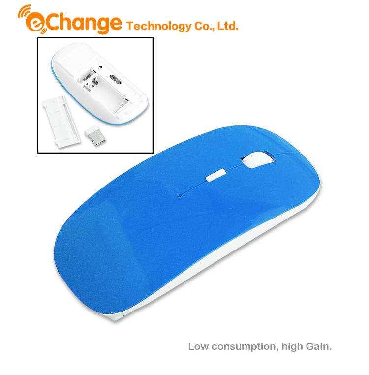 Ultra Thin PC Laptop Wireless Optical 2.4GHz Dark Blue Mouse Mice With Receiver EA0019 blusa gaming mouse mouse para jogos(China (Mainland))