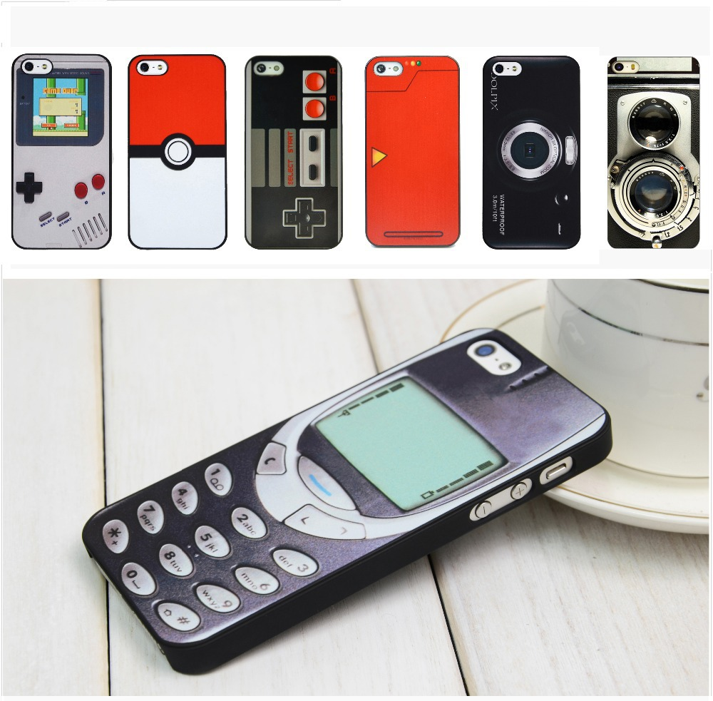 For iPhone Case Old Style 3310 Funny Gameboy Videotape Camera Case Cover 4 4S 5 5S(China (Mainland))
