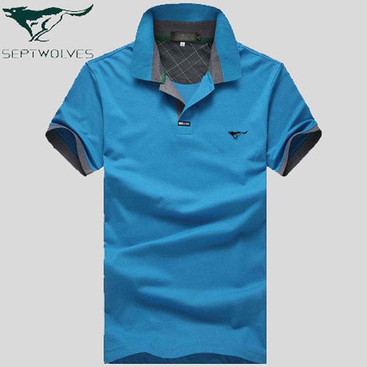 7 wolf brand new summer men s short sleeved t shirt high for High end men s dress shirts