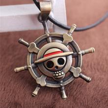 Hot New One Piece Helm Logo Mark Alloy Necklaces Japan Animation Small Pendant