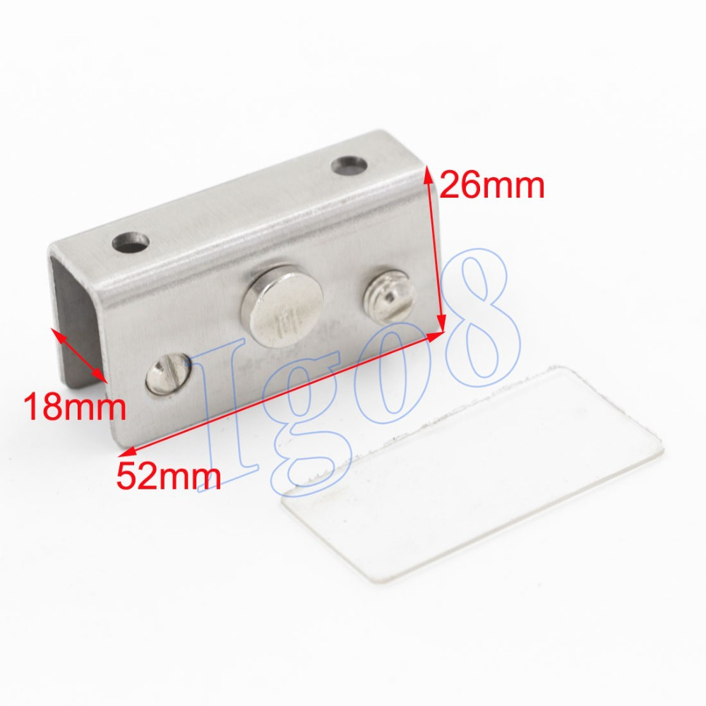 4pcs Hardware Cabinet Glass Door Hinge Stainless Steel 52 x 18 x 26mm(China (Mainland))