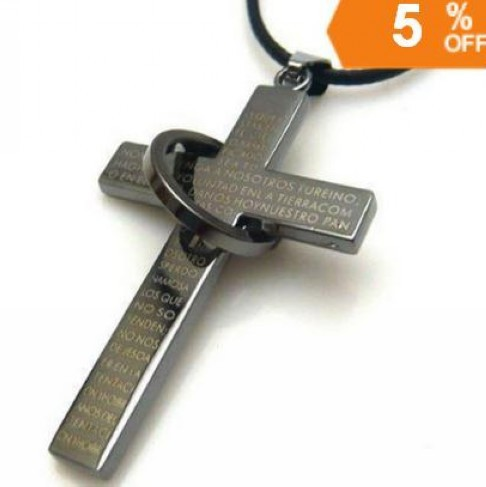 Fashion Round Cross necklace Wholesale trendy jewelry 2014 High Quality Pendant necklace Free shipping PT33