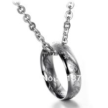 Free Shipping Fashion Accessories 2013 Jewelry Titanium 316L Stainless Steel The Lord of the Rings Pendant Necklace 50cm Chain